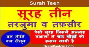 surah teen hindi